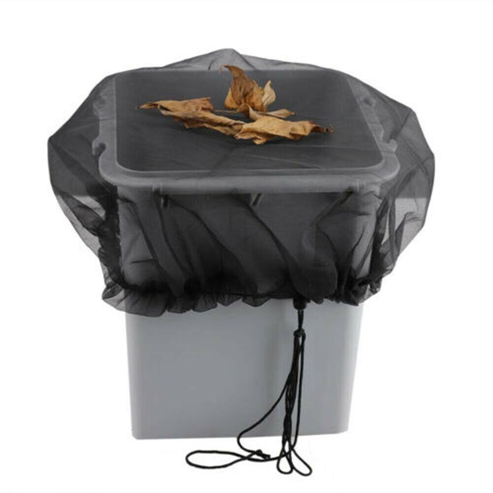 Mesh Cover Netting For Outdoor Garden Rain Barrels Water Collector Buckets 80cm
