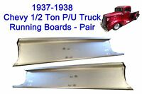 1937 1938 Chevrolet Chevy Pickup Truck / Panel Delivery Steel Running Board Set