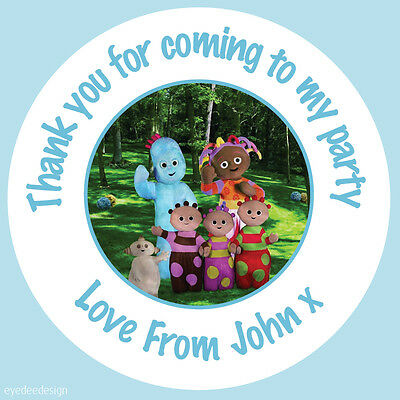 Personalised In The Night Garden Birthday Stickers Party Thank You Cake - 424