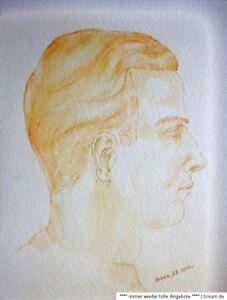 HEDDA-signiert-Aquarell-Roetelzeichnung-1944-PORTRAIT-EINES-MANNER-KOPF