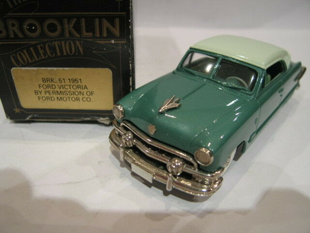 1 43 BROOKLIN 51 FORD VICTORIA 1951 BOITE TYPE 1 1ST TYPE OF BOX