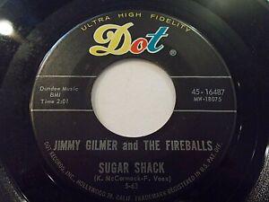 Jimmy Gilmer & The Fireballs Sugar Shack / My Heart Is Free 45 Dot Vinyl Record