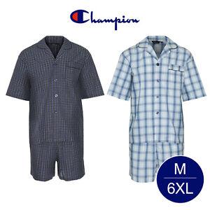 newest 640fe ac2ea Dettagli su Da Uomo Champion Estate Cotone Breve Pigiama Abbigliamento da  Notte Nightwear Big Taglie M 6XL- mostra il titolo originale