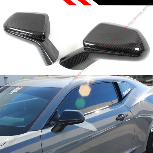 FOR 2016-2019 CHEVY CAMARO SS RS ZL1 CARBON FIBER ADD-ON SIDE VIEW MIRROR COVERS