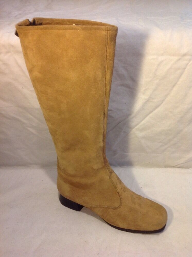 Hush Puppies Beige Knee High Leather Boots Size 6
