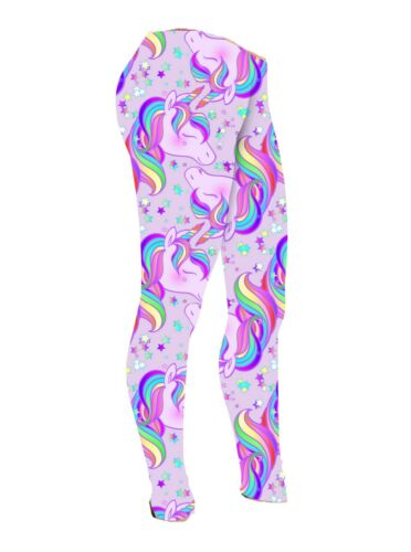 Bambine BAMBINI ANIMALI modello Pugs CANE GATTO SCIMMIE Unicorno GUFO Leggings 5-10