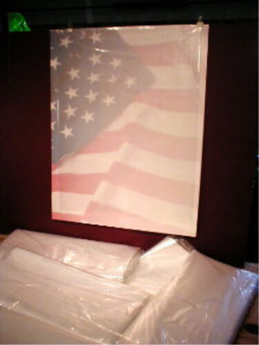"""Clear Poly Bag 2 mil For Larger Blue Prints Maps Posters 5/""""x38/"""" LG 100ct"""
