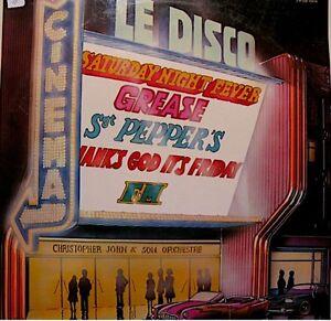 CHRISTOPHER-JOHN-cine-disco-LP-1979-saturday-night-fever-grease-sandy-RARE-VG