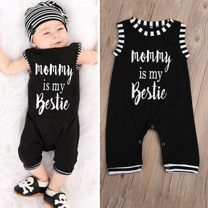 2650ab72157a Mommy Baby Kids Girl Boy Infant Summer Romper Jumpsuit Playsuit ...