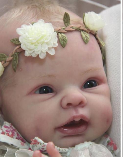 Reborn Suppplies Doll Kits 22inch 55cm Blank Reborn Kits DIY Doll with Body Eyes