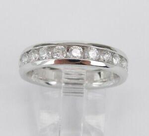 1-CT-Channel-Set-Round-Diamond-Anniversary-Wedding-Band-14k-White-Gold-GP-Ring