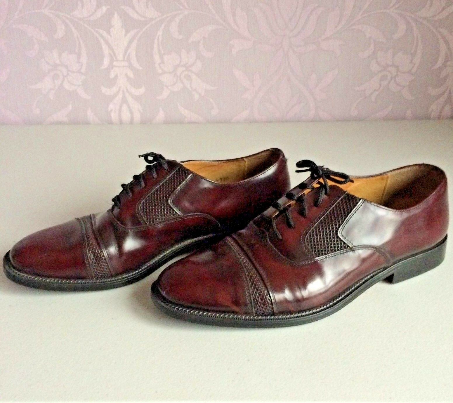 Gino Rossi ARTISAN CRAFTED Oxford IN ITALY Burgundy Leather Oxford CRAFTED schuhe Mens UK 8 VGC 094ba0