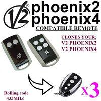 3 X V2 Phoenix2, V2 Phoenix4 Compatible Remote control transmitter 433,92Mhz!