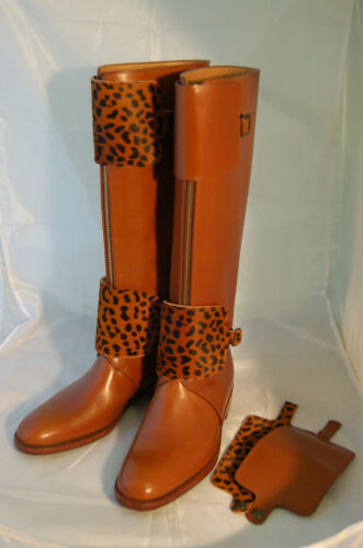 col Brown Ligth cuoio ½ Donna woman Stivale calf Rubber Boot 40 Sole vit lth BZxqXz