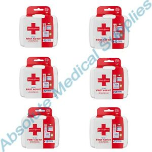 *6-Pack* Johnson & Johnson First Aid 12 Item Travel Portable Kit To Go 100829573