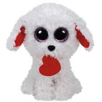 6 inch Glitter Eyes HONEY BUN the Dog TY Beanie Boos - MWMTs Boo