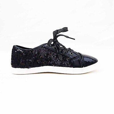 Fiducioso Scarpe Donna Polacchine Ginnastica Sneakers Vernice Lustrini Fashion Lacci 807