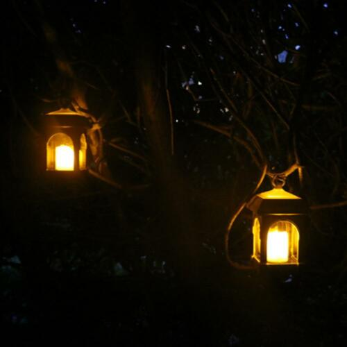 Garden Solar Powered LED Candle Table Lantern Hanging Light Outdoor Yard Lamp