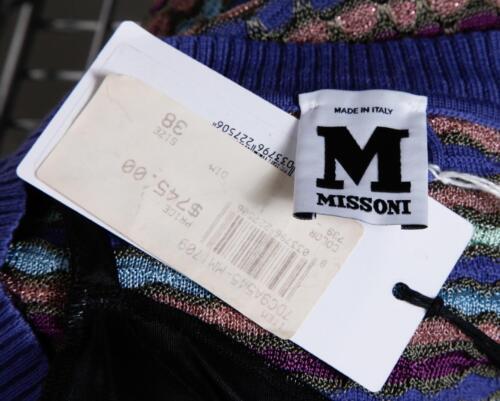 38 Tubino 2 Missoni M Nuovo Corta Maglione Manica Multicolore Donna A Righe 7wFCwBqz