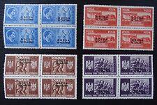 Rumänien 712-715 ** 4er Block , Aufdruck Odessa , Qualitätsgrad II