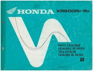 Catalogo-Piezas-de-Repuesto-Catalogue-Honda-XR600R-ed-1993-Codigo-13MN1P42
