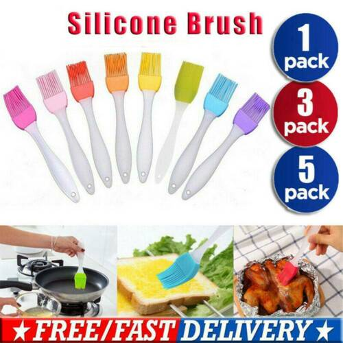 Silicone Baking Bakeware Bread Cook Pastry Oil Cream BBQ Tools Basting Brush US