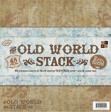 "DCWV PAPER STACK 12""X12"" 48/PKG OLD WORLD 24 DESIGNS/2 EACH"