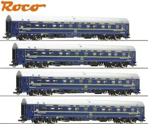 ROCO-h0-61468-2-sommeil-Voiture-Set-034-Type-U-Hansa-034-de-la-CIWL-Neuf