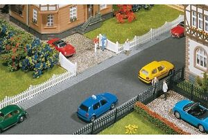 Faller-180410-HO-1-87-Cloture-de-jardin-avec-portes-710-mm-Garden-fences