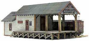 BANTA-MODELWORKS-RED-MOUNTAIN-FREIGHT-HO-Railroad-Structure-Unpainted-Kit-BM2070