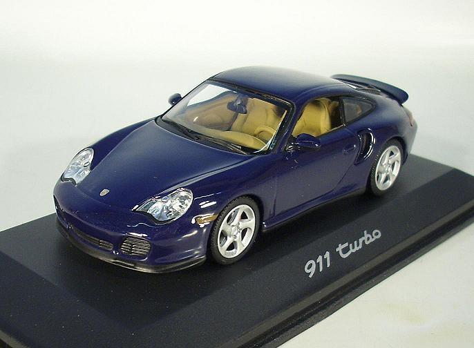 Minichamps 1 43 porsche 911 turbo bleu foncé emballage d'origine  6908