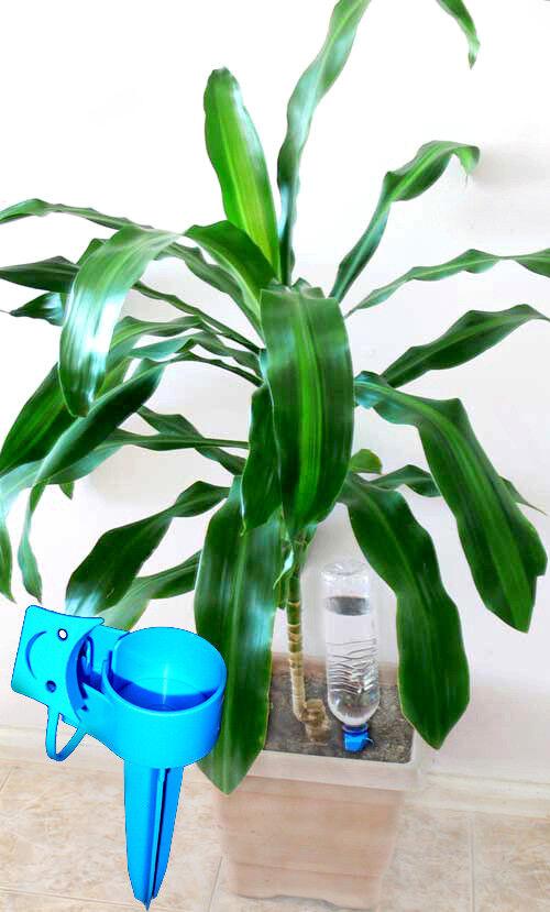 5x5+bottles Watering Spike Automatic Drip Plant Waterer Pot Flower Garden Tool