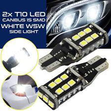 2 Stück T10 15 LED SMD W5W Weiß Autolampe KFZ Standlicht Glühbirne DC 12V/24V