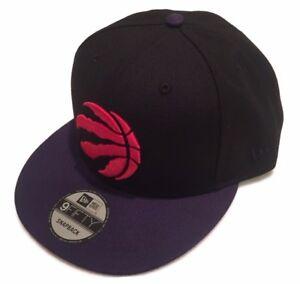 396280b71fa76 Toronto Raptors NBA New Era 9Fifty Black Purple Red Logo Snapback ...