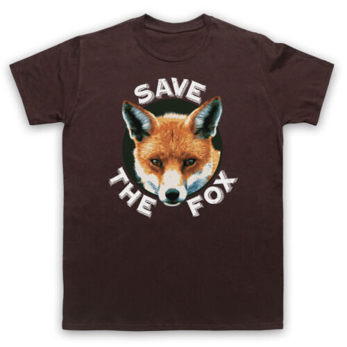 SAVE THE FOX PROTEST ANTI HUNTING ANIMAL LOVER MENS WOMENS KIDS T-SHIRT