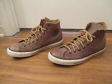 Used Sz 11 Fit Like 11.5-12 Converse Leather Motorcycle Jacket All Star Shoes