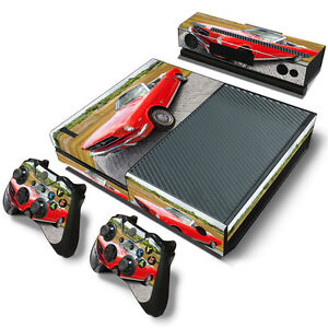 XBox One Console and Controller Skins -- Red Mustang Theme ... Xbox One Skins Ebay