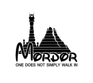 Mordor-One-Does-Not-Simply-Walk-In-Vinyl-Decal-Sticker-Window-Glass-LOTR