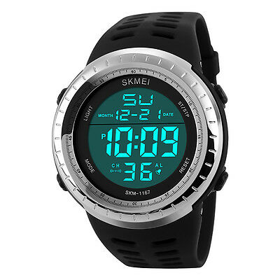 Sports Men Men's Waterproof Wristwatch 50M Dive Swim LED Digital Watch