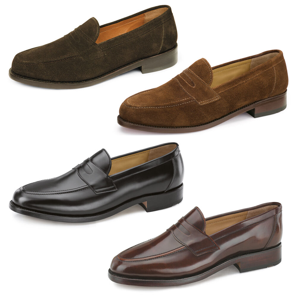 Samuel Windsor Mens Loafers Leather shoes Suede Smart Slip On UK Sizes 5-14 NEW
