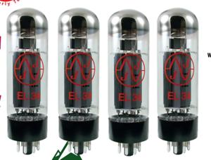 BURNED-IN-Matched-Quad-EL34-JJ-Electronics-Tube-Set-Valves-for-maximum-stability