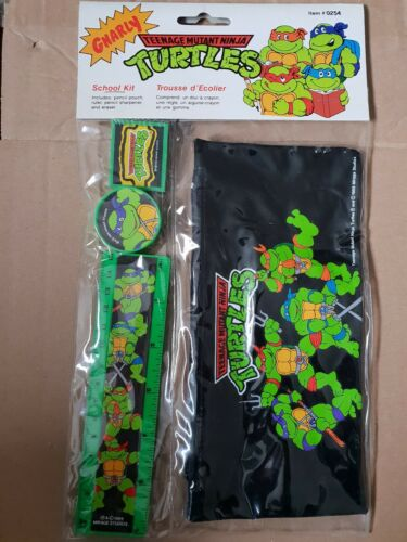 Kit Scolaire Tortue Ninja TMNT NINJA TURTLES school kit 1989 mirage studios