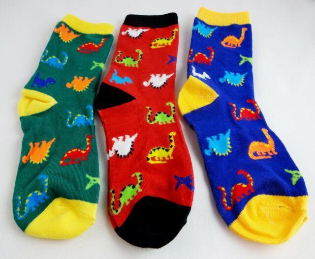 Green /& Blue Size Large Kids/' Dinosaur Print Socks