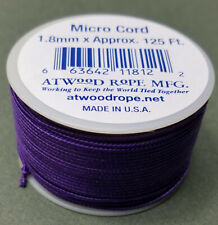 Neon Green MS18  1.18mm x 125ft Micro Cord Paracord Made in the USA