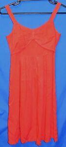 Ladies-Tina-Design-Summer-Dress-30-034-Size-Small-10-Plain-Pink-Knee-Length