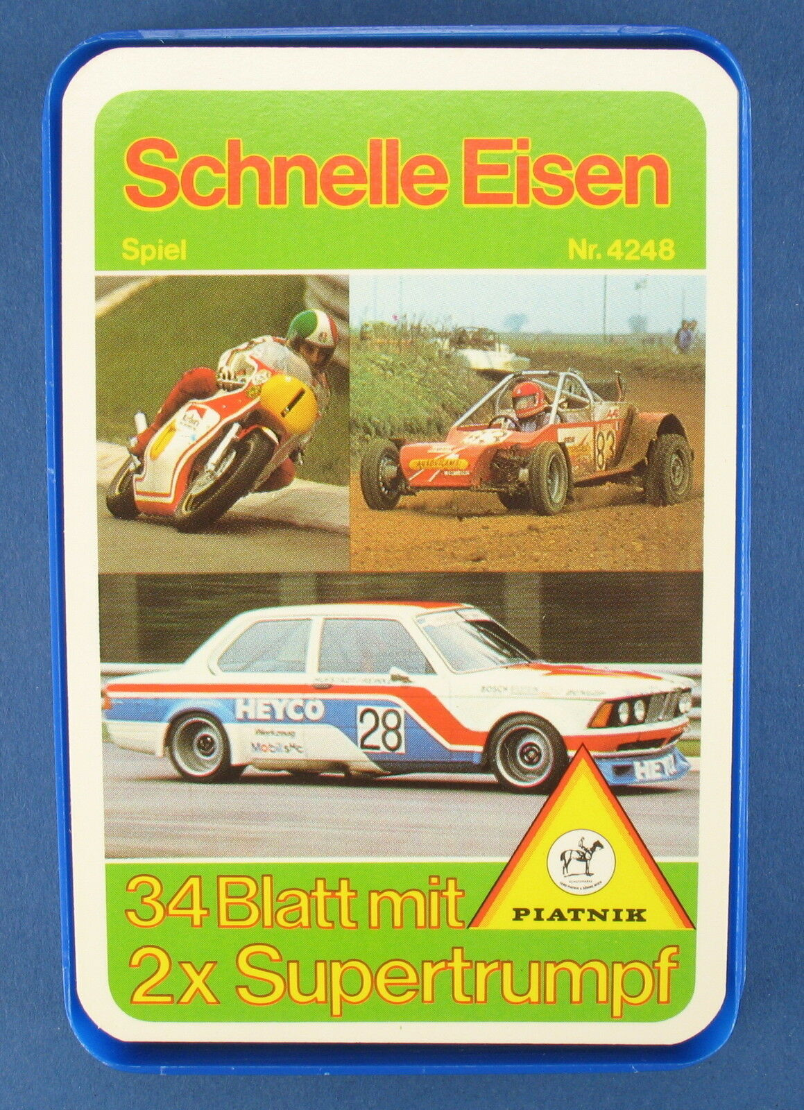 Quartett - Schnelle Eisen + 2x Supertrumpf - Piatnik - Nr. 4248 - Kartenspiel