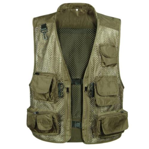 Men Travel Photographer Multi-pocket Vest Fishing Hunting Camping Outdoor Jacket