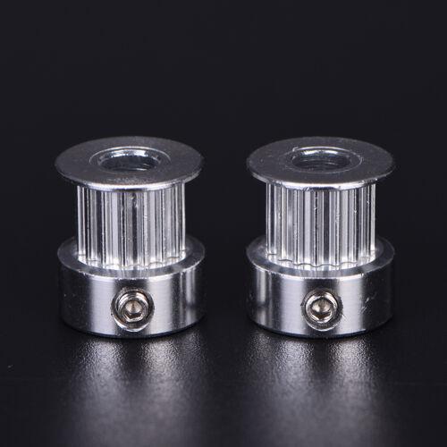 2x GT2 16 T Zähne 5mm Bohrung Aluminium Zahnriemenscheibe Für 3D Druc Gw