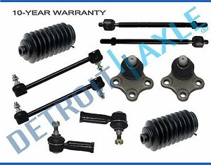 New 10pc Front Suspension Kit Inner Outer Tie Rods Lower Ball Joints Sway Bar