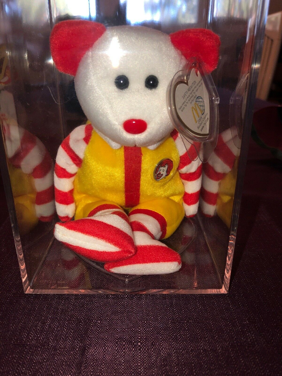 Beanie Babies Raro Ronald McDonald mwmts Y Estuche